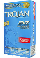 Trojan Condom Enz With Spermicidal Lubricant 12 Pack