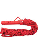 Rouge Suede Flogger With Leather Handle Red