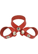 Redline 8 Style Oiltan Ball Divider Leather Red
