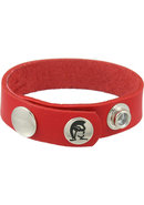 Redline Oiltan Cock Ring Leather Red
